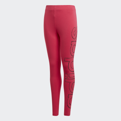 Kids Lifestyle Pink Logo Tights