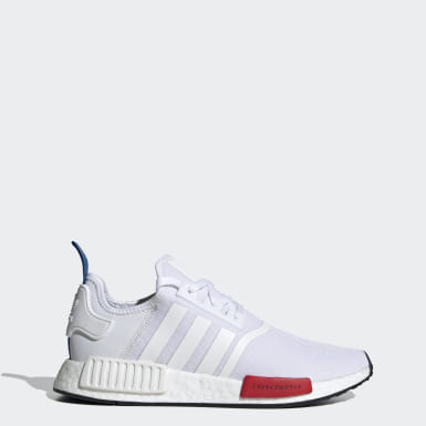 Men Originals White NMD_R1 Primeknit Shoes