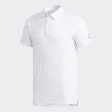 Men Tennis White Climachill Polo Shirt