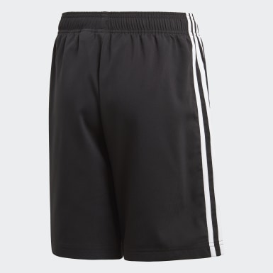 Boys Yoga Black Essentials 3-Stripes Woven Shorts