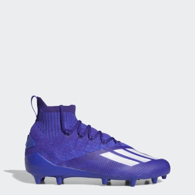 Men's Football Purple Adizero Primeknit Cleats