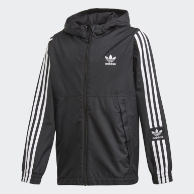черный Ветровка Jacket