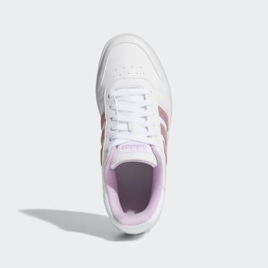 Children Essentials White Hoops 2.0 Shoes
