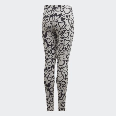 Girls Træning Grå Must Haves Graphic tights
