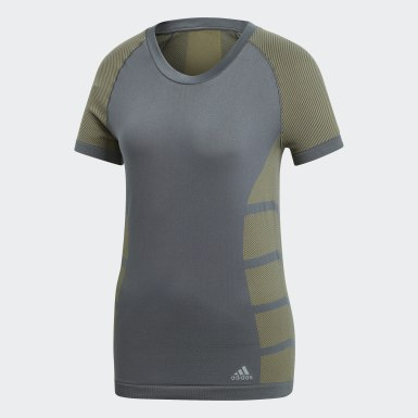 Camiseta Ultra Primeknit Light Gris Mujer Running