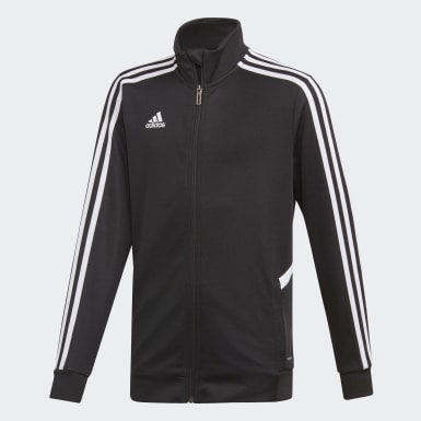Kinder Training Tiro Trainingsjacke Schwarz