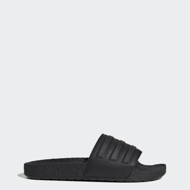 Essentials Black Adilette Boost Slides