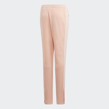 Dívky Originals růžová Kalhoty High-Waisted