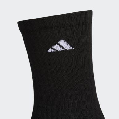 Men's Training Black Cushioned Crew Socks 3 Pairs