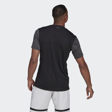 Men Tennis Black Club Tennis T-Shirt