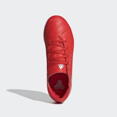 Children Soccer Red Nemeziz 19.4 Indoor Shoes