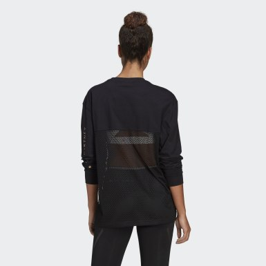 Maglia adidas by Stella McCartney Mesh Nero Donna adidas by Stella McCartney