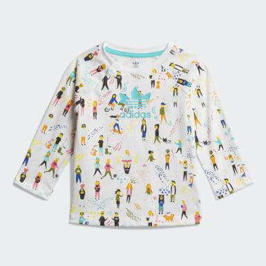 разноцветный Комплект: футболка и комбинезон