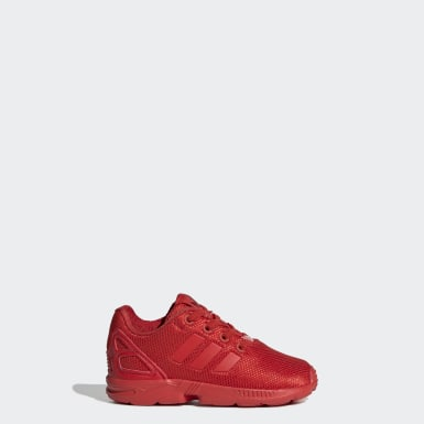 Kids Originals Red ZX Flux Shoes