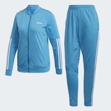 Women Training Turquoise Back 2 Basics 3-Stripes Track Suit