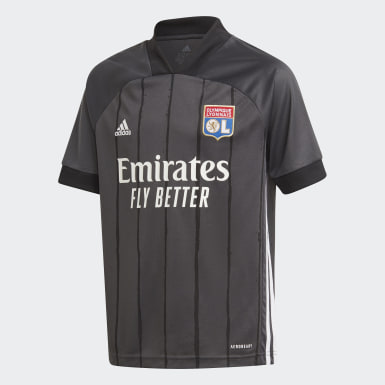 Youth 8-16 Years Football Grey Olympique Lyonnais 20/21 Away Jersey