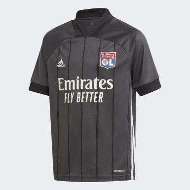 Børn Fodbold Grå Olympique Lyonnais 20/21 udebanetrøje