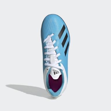 Chuteira X 19.4 Society Azul Kids Futebol