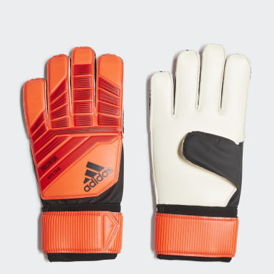 Football Red Predator Top Training Goalkeeper Gloves