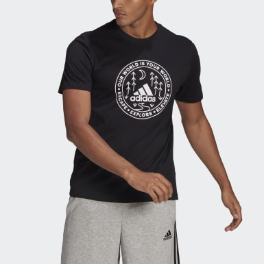 Remera Explore Nature Estampada Negro Hombre Sport Inspired