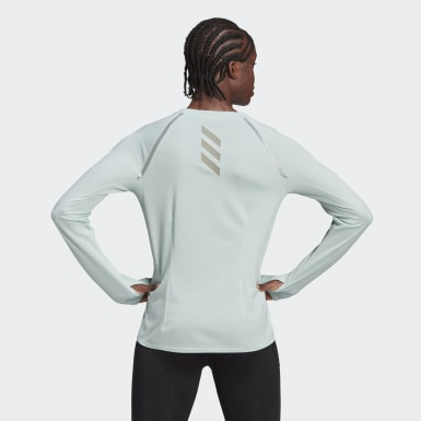 Reflective Long Sleeve T-skjorte Turkis
