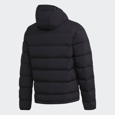 Men Urban Outdoor Black Helionic Soft Hooded Down Jacket