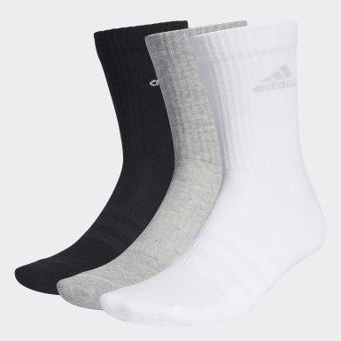 Tréning Siva Ponožky Cushioned Crew