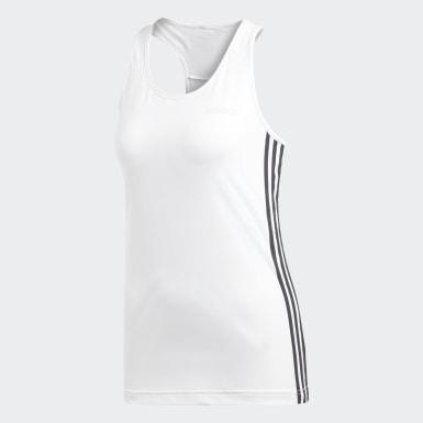Camisola de Alças 3-Stripes Design 2 Move Branco Mulher Treino