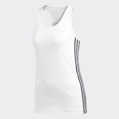 Musculosa Design 2 Move 3 rayas Blanco Mujer Training