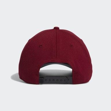 Men Golf Burgundy Golf Flag Hat
