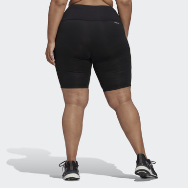 Women's Softball Black Designed 2 Move High-Rise Sport Short Tights (Plus Size)