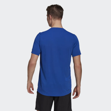 Men's Training Blue AEROREADY Designed 2 Move Feelready Sport Tee