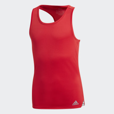 Youth 8-16 Years Tennis Red Club Tank Top