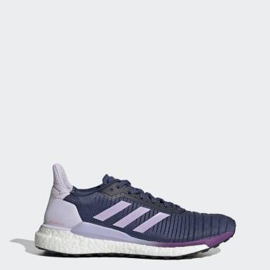 Kvinder Løb Blå Solar Glide 19 sko