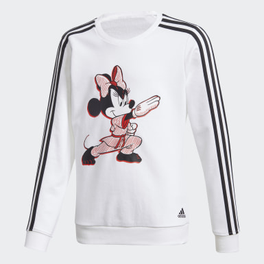 Girls Training White Minnie Mouse Karate Tracksuit