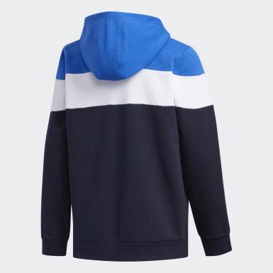 Blusa Capuz Linear Azul Meninos Training