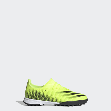 Children Soccer Yellow X Ghosted.3 Turf Shoes