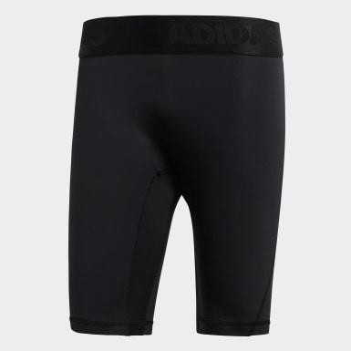 ผู้ชาย เอาท์ดอร์ สีดำ กางเกงรัดรูปขาสั้น Alphaskin