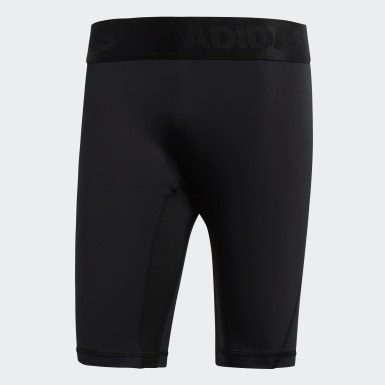 Men Outdoor Black Alphaskin Sport Short Tights