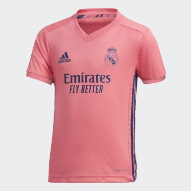 Mini kit Real Madrid 20/21 Extérieur Rose Enfants Football