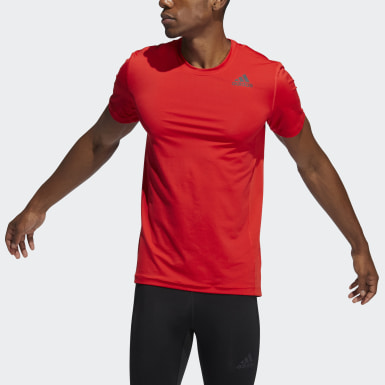 Heren Crosstraining Rood Techfit Compressie-T-shirt