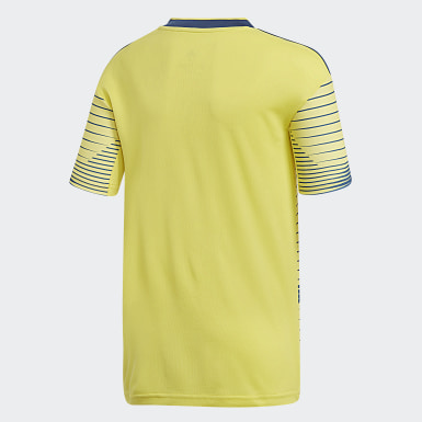 Jersey Uniforme Titular Selección Colombia Amarillo Niño Fútbol