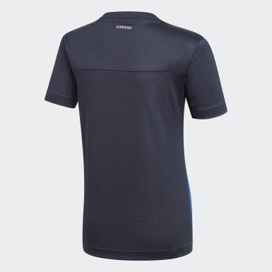 T-shirt Equipment Bleu Garçons Studio