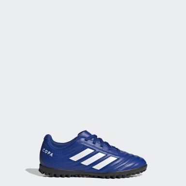 Children Football Blue Copa 20.4 Turf Boots
