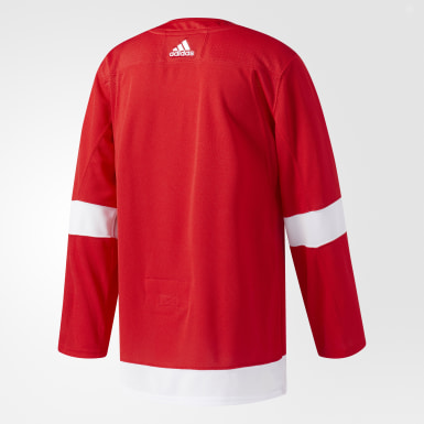 Maillot Red Wings Domicile Authentique Pro rouge Hockey