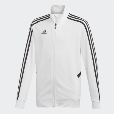 Children Soccer White Tiro Track Jacket