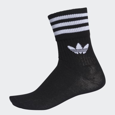 Originals Zwart Mid-Cut Sokken 3 Paar