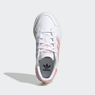 Kids 4-8 Years Originals White Team Court Shoes