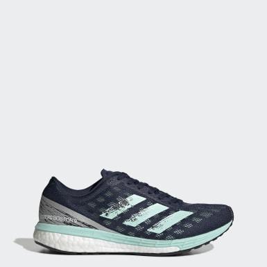 Tênis Adizero Boston 9 Azul Mulher Running