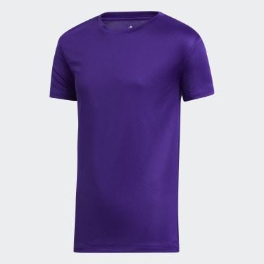 Youth Training Purple Tee